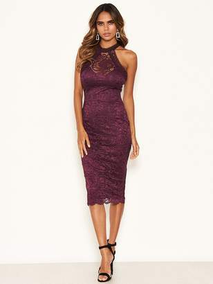 AX Paris Lace Bodycon Dress - Plum