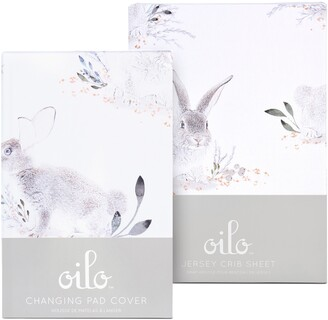 Oilo Cottontail Changing Pad Cover & Fitted Crib Sheet Set
