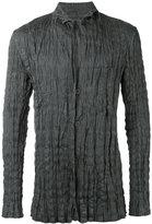 Issey Miyake wrinkled blazer - men - Linen/Flax/Polyester - 4