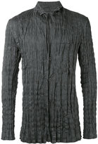 Issey Miyake wrinkled blazer - men - Polyester/Linen/Flax - 4