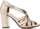 Buttero metallic block heel sandals