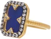 Freida Rothman 14K Gold Plated Sterling Silver Rectangular Lapis Ring