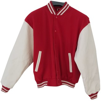 Non Signã© / Unsigned Non SignA / Unsigned Oversize Red Leather Jackets