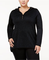 Belldini Plus Size Hooded Sweater
