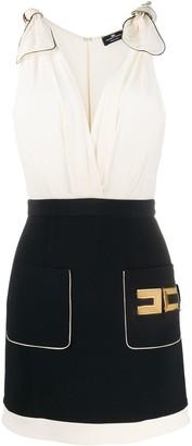 Elisabetta Franchi Logo Plaque Short Skirt