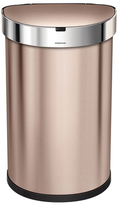 Simplehuman 45 Litre Semi-round Sensor Can Rose Gold Stainless Steel with Bonus Custom Fit Code J 60 Pack Liners