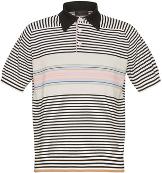 Prada Striped Wool Polo