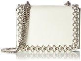 Kaviar Gauche Women's Ponticelli Bag w.flower chain Cross-Body Bag Off-White