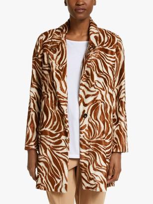Marella Adam Zebra Coat, Cream/Multi