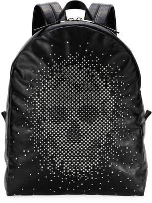 Alexander McQueen Men's Skull-Studded Leather Backpack
