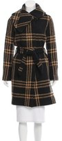Martin Grant Plaid Patterned Knee-Length Coat
