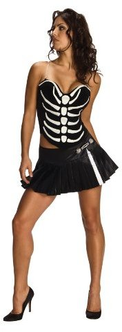 Rubie's Costume Co Secret Wishes Sexy Skeleton Shirt And Skirt Costume Set