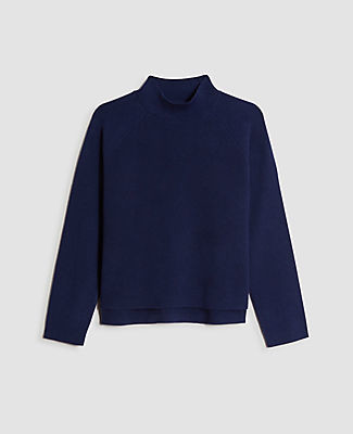 Ann Taylor Cropped Mock Neck Sweater