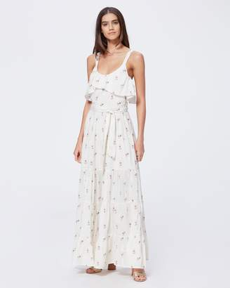 Paige TEVIN MAXI DRESS-WHITE- WESTERN ROSE