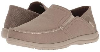 Crocs Santa Cruz Convertible Slip-On (Light Grey/Slate Grey) Men's Slip on Shoes