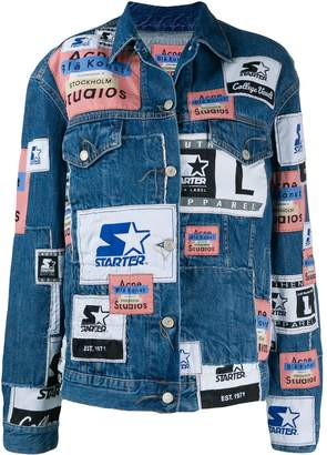 Acne Studios X Starter 2000 patchwork denim jacket