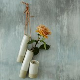 Graham and Green Leather String Ceramic Hanging Vases