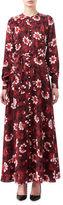 Altuzarra Melia Floral Silk Button-Front Maxi Dress