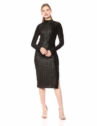 BCBGeneration Women's Long Sleeve Mock Neck Knit Dress