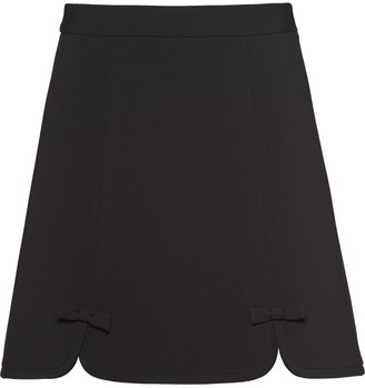 Miu Miu Bow-Detailed Mini Skirt