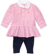 Ralph Lauren Girl Striped Peplum Top & Legging