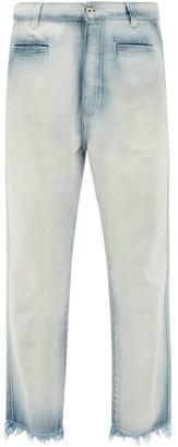 Loewe Paula's Ibiza - Bleached Fishermen Jeans - Womens - Light Blue