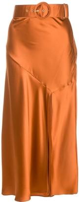 Nicholas Simonetta silk midi skirt