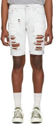 Levi's Levis Blue Denim Slim Cut-Off 511 Shorts