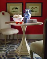 Century Furniture Inlaid Woven Raffia Side Table