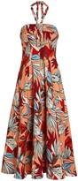Nicholas Tina Deco Floral Halter Dress