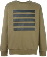 Palm Angels stripe print sweatshirt