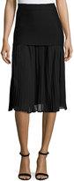 FEW MODA Pleated-Front Skirt, Black
