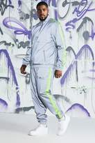BoohooMAN Big & Tall Quavo Reflective Cagoule With Tape