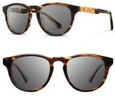 Shwood Men's 'Francis' 49Mm Sunglasses - Black/ Ebony/ Grey