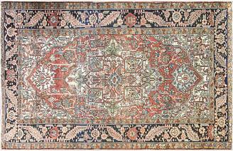 """One Kings Lane Vintage Antique Persian Heriz Rug - 7' x 11'8"""" - Eli Peer Oriental Rugs - brick red/multi"""