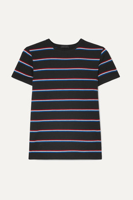 ATM Anthony Thomas Melillo Striped Stretch-pima Cotton Jersey T-shirt - Black
