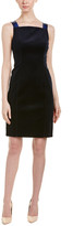 Elie Tahari Leather-Trim Sheath Dress