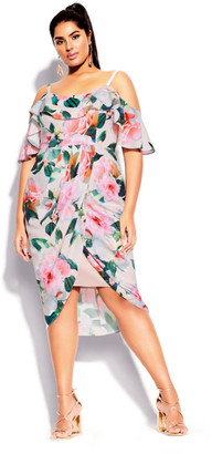 City Chic Love Me Do Dress - pink