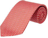 Salvatore Ferragamo Red Sparrow Silk Tie
