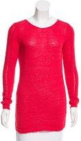 Rachel Zoe Open Knit Long Sleeve Sweater