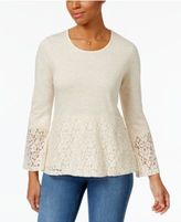 Style&Co. Style & Co Lace Peplum Top, Only at Macy's
