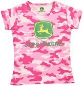 John Deere Pink Camo Logo Tee - Toddler