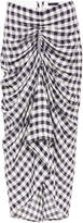 Joseph Gingham Jacquard Ruffled Front Midi Skirt