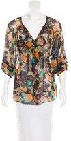 Diane von Furstenberg Silk Printed Blouse