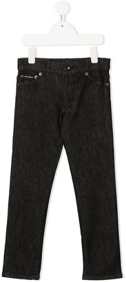 Dolce & Gabbana Kids Patch Detail Stretch Denim