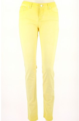 Sud Express Yellow Cotton Jeans for Women