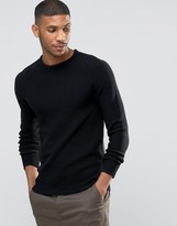 Selected Crew Neck Textured Knitted Jumper