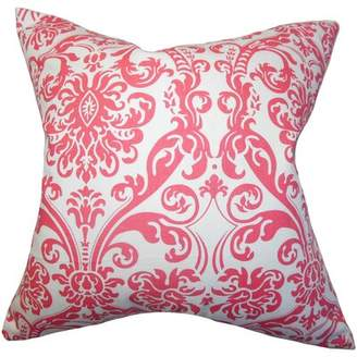 Mankin Damask Bedding Sham Alcott Hill Size: Euro, Color: Candy Pink