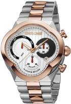 Roberto Cavalli CLOVER Men's Chronograph Swiss-Quartz Two Tone Stainless Steel Bracelet Watch
