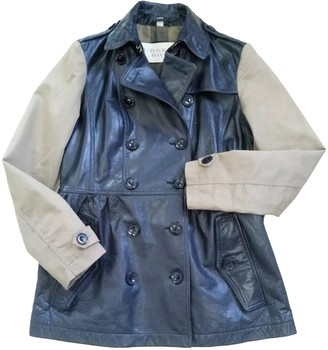 Burberry Brown Leather Trench Coat for Women